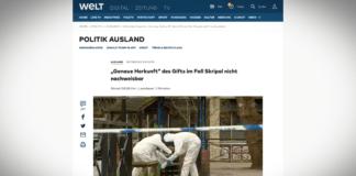 Die Welt: Britská laboratoř neprokázala přesný původ Novičoku