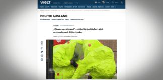 """Julia Skripalová komunikuje, důkazy o ruské vině jsou """"jednoznačné"""""""