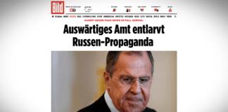 Německé ministerstvo zahraničí upozorňuje na Lavrovovy lži