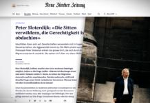 """Peter Sloterdijk: """"Mravy upadají, spravedlnosti je bez domova"""""""