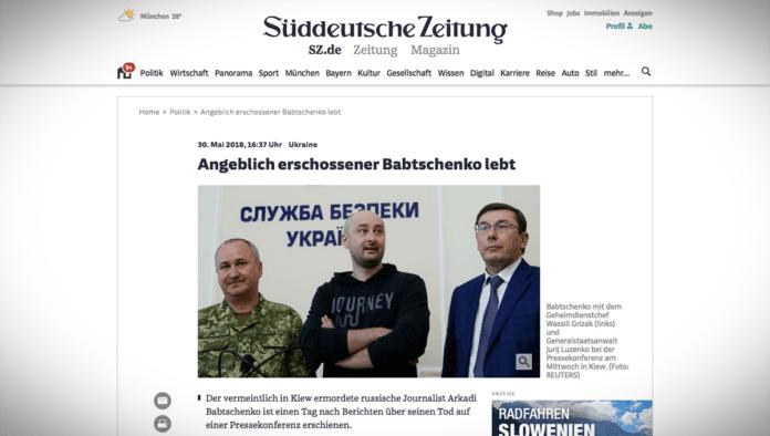Inscenace ukrajinské rozvědky: ruský novinář Babčenko žije