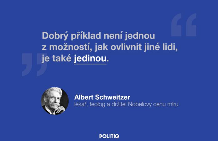 Citát POLITIQ: Albert Schweitzer