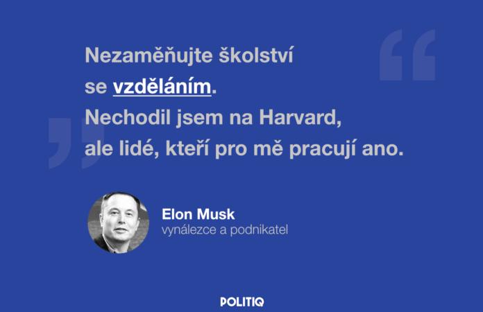 Citát POLITIQ: Elon Musk