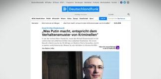 """Chodorkovskij: """"To, co dělá Putin, odpovídá chování kriminálníků"""""""