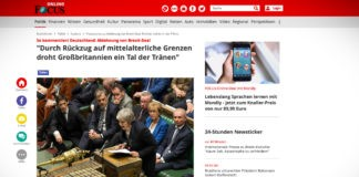 Jak komentují německá média odmítnutí smlouvy o brexitu?