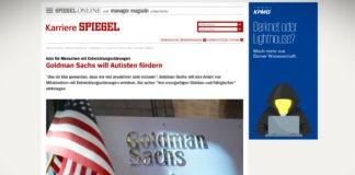 Goldman Sachs chce zaměstnávat více autistů