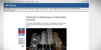 V Černé Hoře byli odsouzeni pučisté, mezi nimi jsou i dva ruští agenti