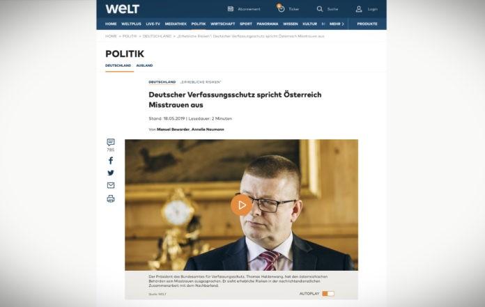 Německá kontrarozvědka nedůvěřuje rakouským kolegům