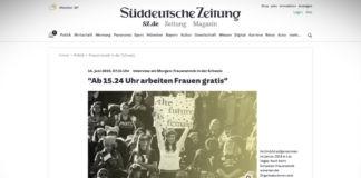"""Ženská stávka ve Švýcarsku: """"Od 15:24 pracují ženy zadarmo"""""""