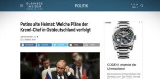 Putinova stará vlast: jaké má vládce Kremlu plány s východním Německem?