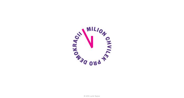 Grafická glosa Lumíra Kajnara: Milion chvilek pro demokracii