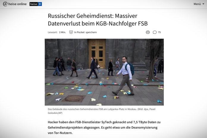 Ruské tajné službě FSB uniklo 7,5 TB citlivých dat