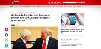 Proč jsou provokatéři Trump a Johnson pro německé politiky výzvou?