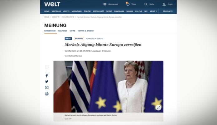 Herfried Münkler: Odchod Merkelové by mohl Evropu rozštěpit
