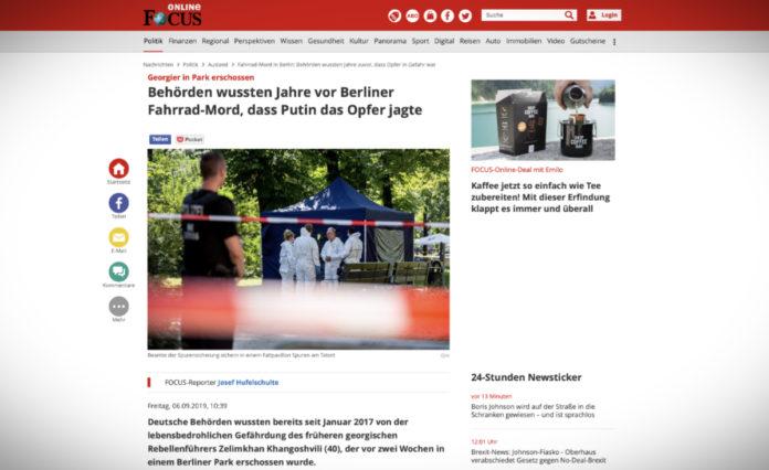 Úřady roky před berlínskou vraždou věděly, že Putin oběť pronásledoval