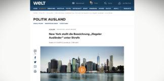 """Město New York zakázalo označení """"ilegální cizinec"""""""