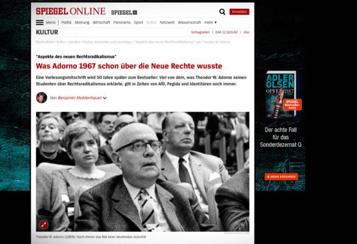 Co věděl Adorno o nové pravici již v roce 1967?