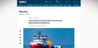 Humanitární loď Alan Kurdi byla ohrožována libyjskou pobřežní hlídkou