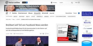 Konspirační server Breitbart má být součástí Facebook News