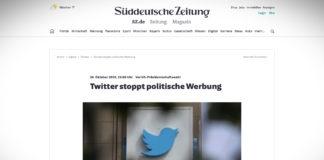 Twitter přestane zobrazovat politickou reklamu