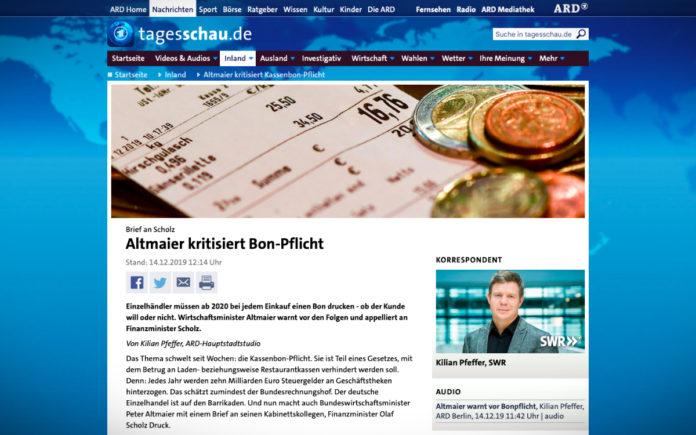 Německý ministr hospodářství Altmaier kritizuje účtenkovou povinnost
