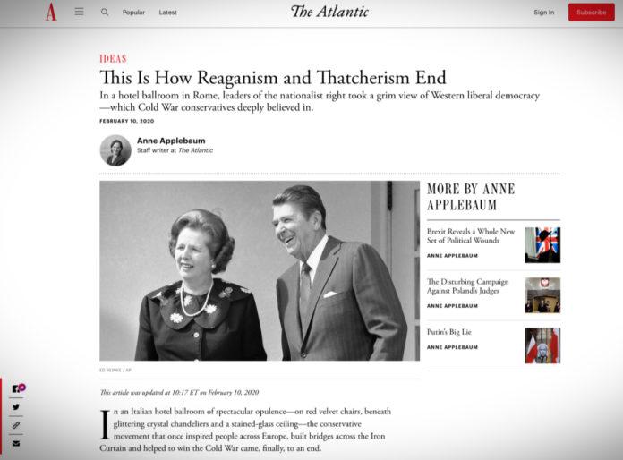 Od reaganismu a thatcherismu k novému nacionalismu