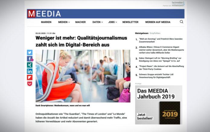 Méně je více: kvalitní novinařina se v digitálních médiích vyplácí