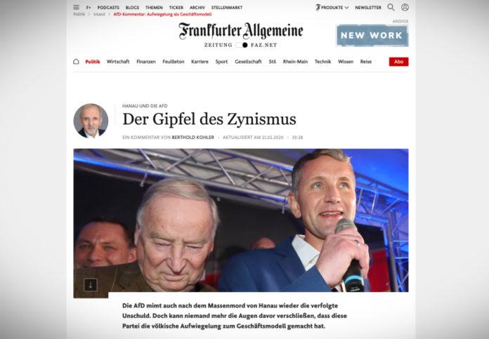AfD po útoku v Hanau: vrchol cynismu