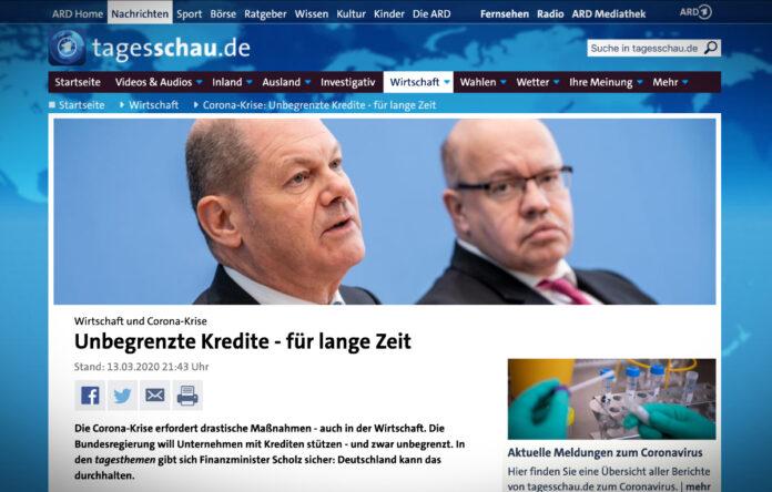 Německá vláda a koronavirus: dlouhodobé a neomezená úvěry