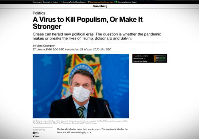 Porazí koronavir populisty, nebo je naopak posílí?