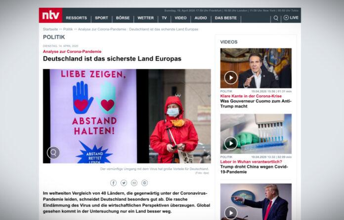 Koronakrize: Německo je nejbezpečnější evropskou zemí