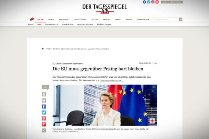 EU musí zůstat vůči Číně tvrdá