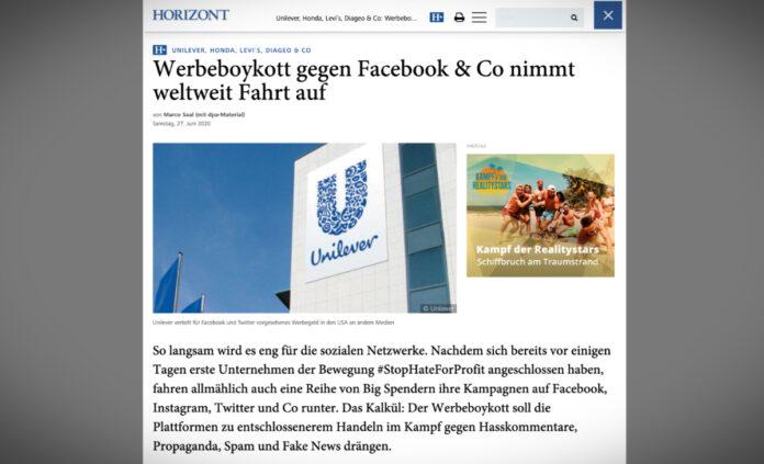Celosvětový bojkot reklamy na Facebooku a spol. sílí