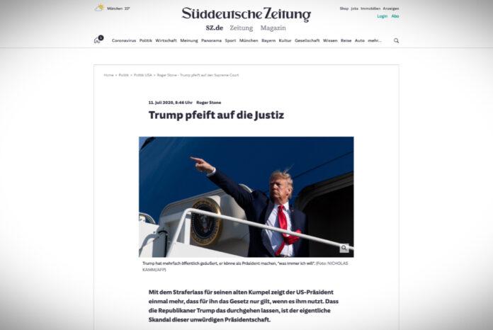 Trump kašle na justici